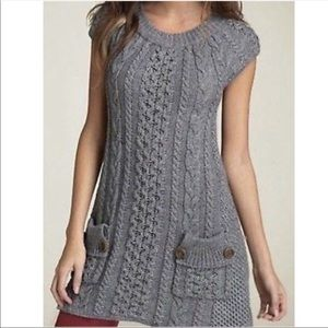 Free people Chunky Knit Sweater Dress Tie Back S
